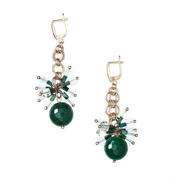Golovina accessories ювелирная бижутерия серьги Isabel из натуральных камней