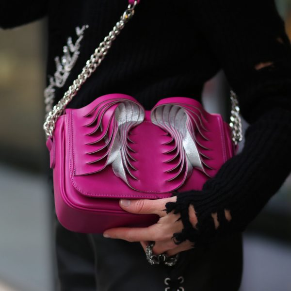 Golovina-Angel-wings-bag-fuchsia-and-silver