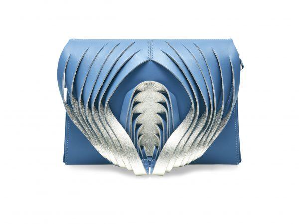 Golovina Angel Heart & Wings bag light blue and silver