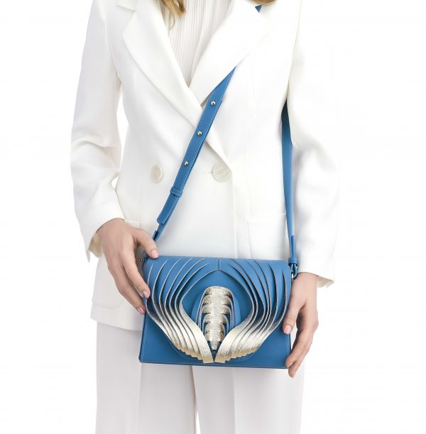 Golovina Angel Heart & Wings bag light blue and silver