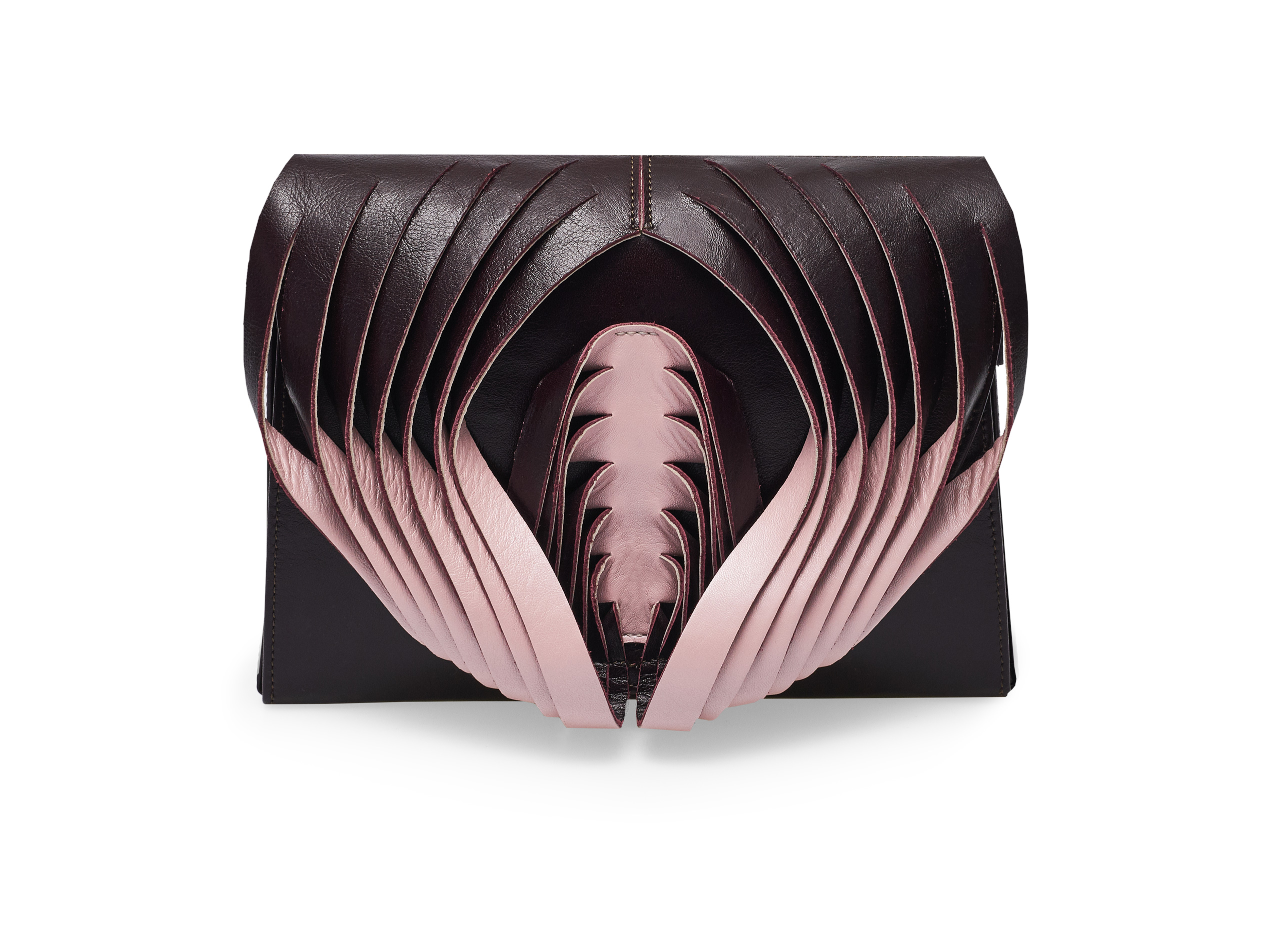 Golovina Angel Wing & Heart bag marsala and pink