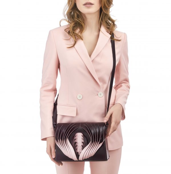 Golovina Angel Wing & Heart bag marsala and pink