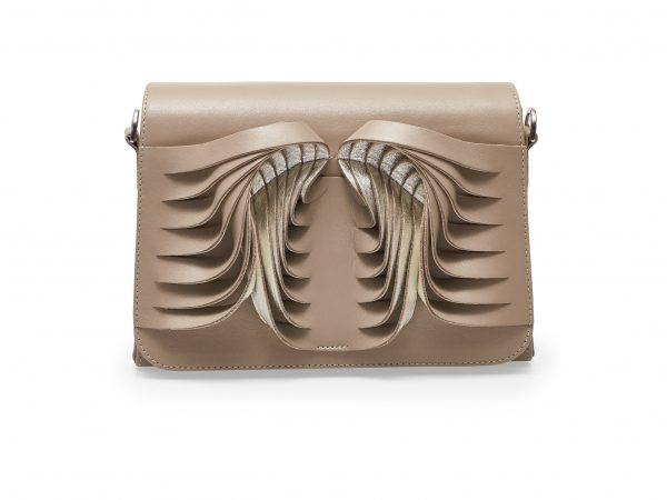 Golovina Angel Wings and Heart bag beige and silver