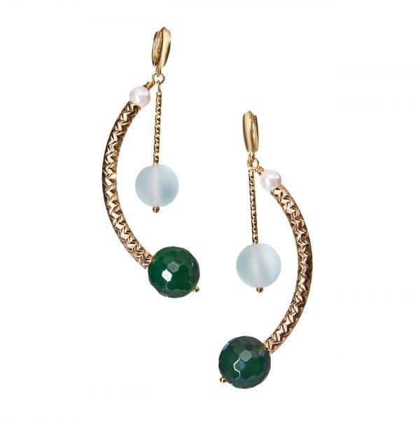 Golovina accessories ювелирная бижутерия серьги Ameli из натуральных камней