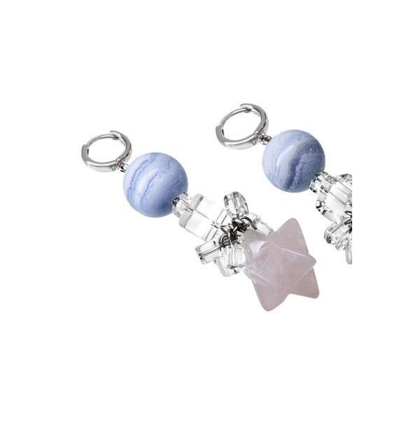 Golovina accessories ювелирная бижутерия серьги Angel из натуральных камней