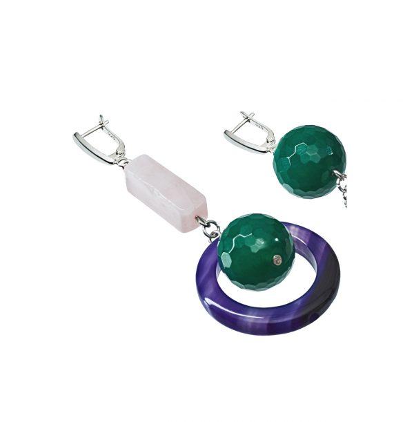 Golovina accessories ювелирная бижутерия серьги Audrey из натуральных камней