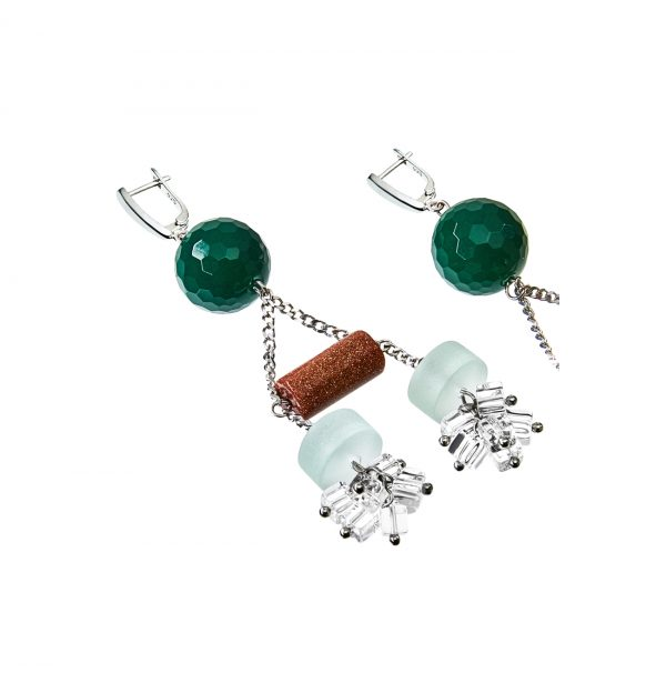 Golovina accessories gemstone jewellery becky earrings