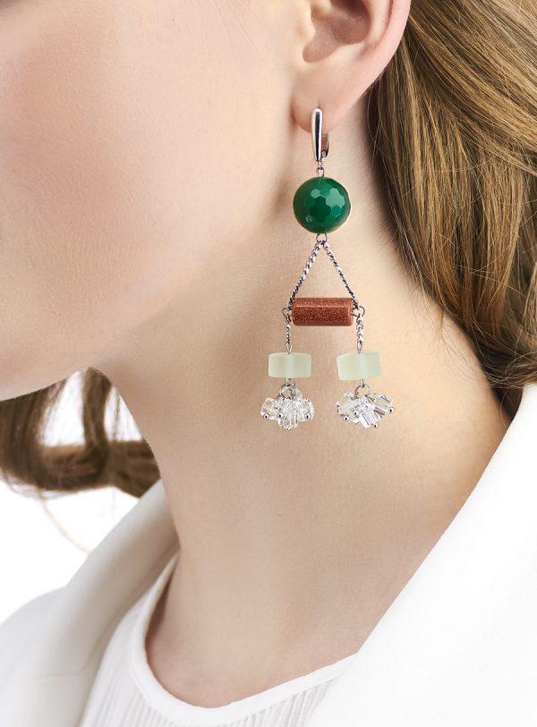 Golovina accessories ювелирная бижутерия серьги Becky из натуральных камней
