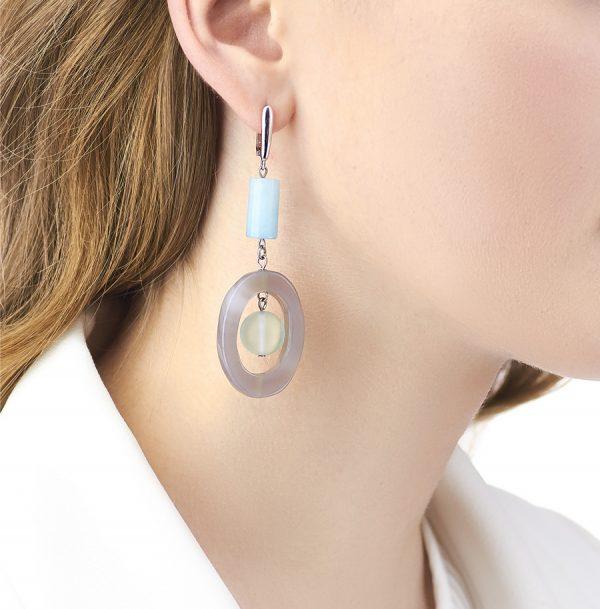 Golovina accessories ювелирная бижутерия серьги Celia из натуральных камней