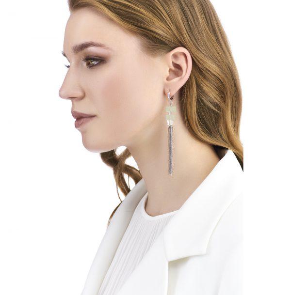 Golovina accessories ювелирная бижутерия серьги Chloe из натуральных камней