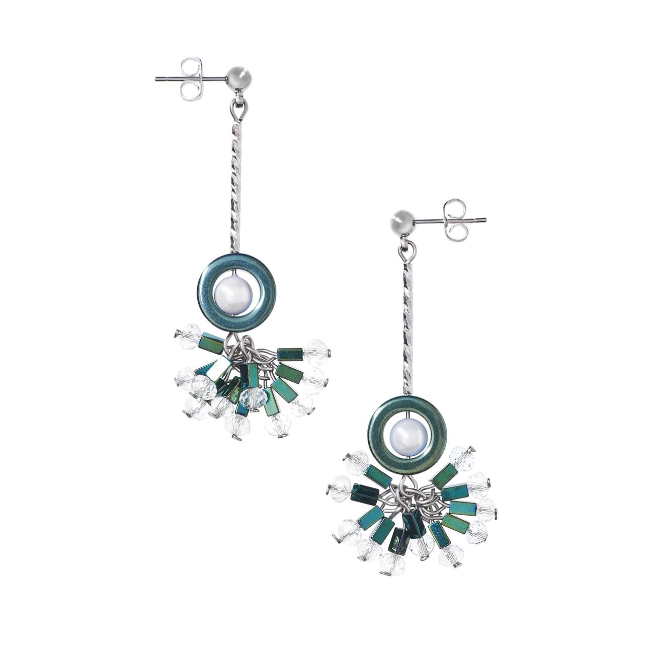 Golovina accessories ювелирная бижутерия серьги Daisy из натуральных камней