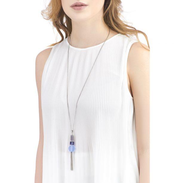 Golovina accessories gemstone jewellery delia lilac necklace