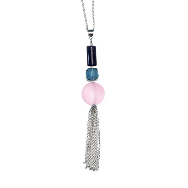Golovina accessories gemstone jewellery delia pink necklace