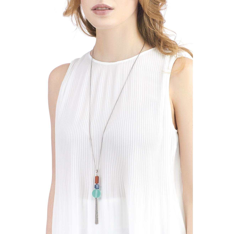 Golovina accessories ювелирная бижутерия колье Delia turquoise из натуральных камней