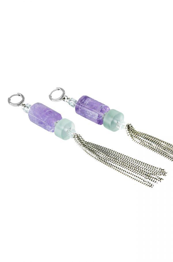 Golovina accessories ювелирная бижутерия серьги Eileen из натуральных камней