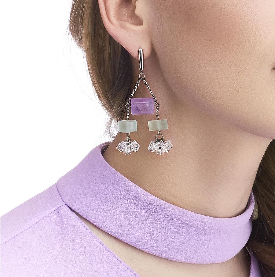 Golovina accessories ювелирная бижутерия серьги Lilian из натуральных камней