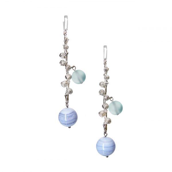 Golovina accessories ювелирная бижутерия серьги Nola из натуральных камней