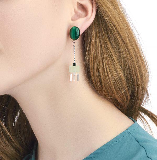 Golovina accessories ювелирная бижутерия серьги Phoebe из натуральных камней
