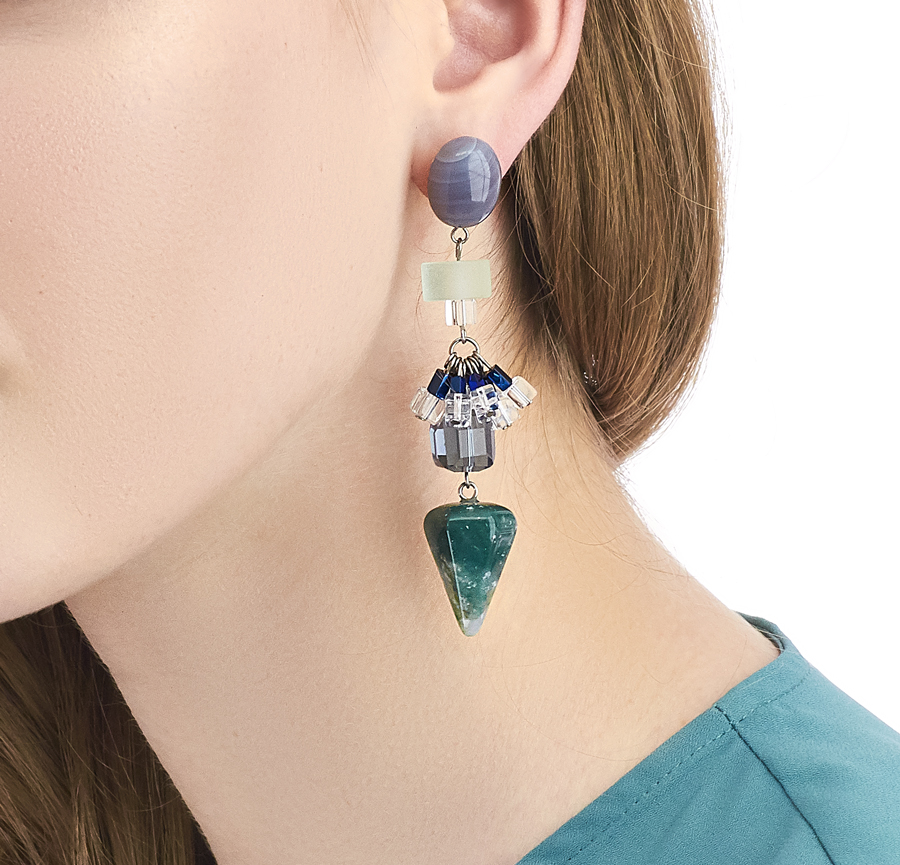 Golovina accessories ювелирная бижутерия серьги Selena из натуральных камней