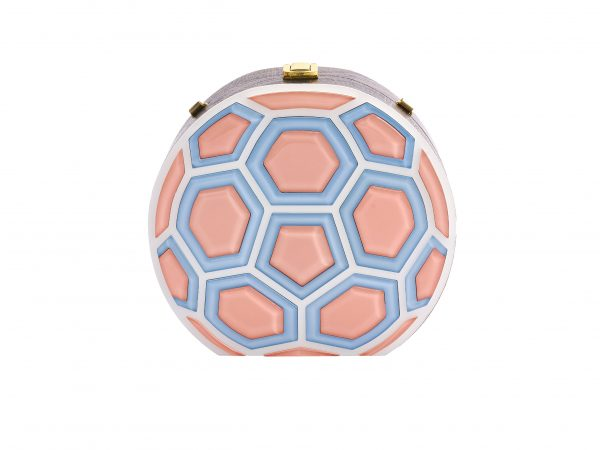 Golovina match ball clutch bag blooming dahlia and blue