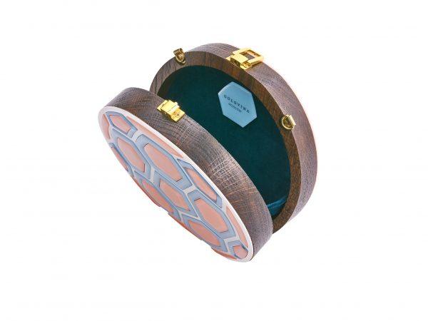 Golovina match ball clutch bag blooming dahlia and blue