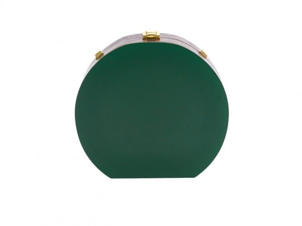 Golovina match ball clutch bag bottle green and gold