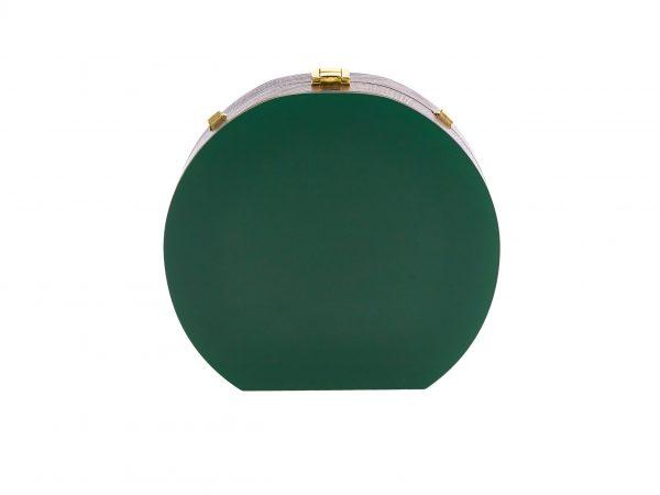 Golovina match ball clutch bag bottle green and gold
