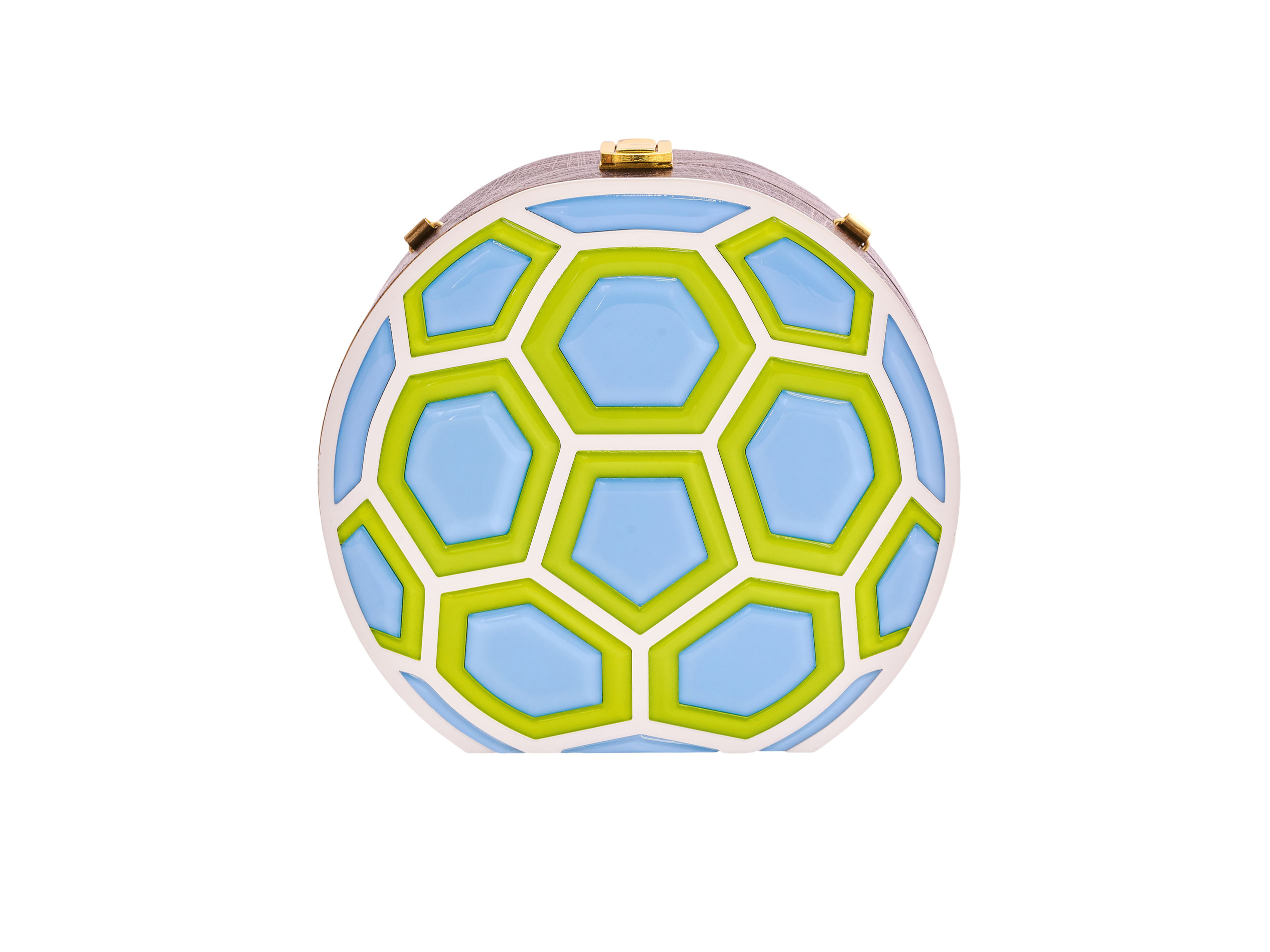 Match Ball Clutch Bag Lime & Blue