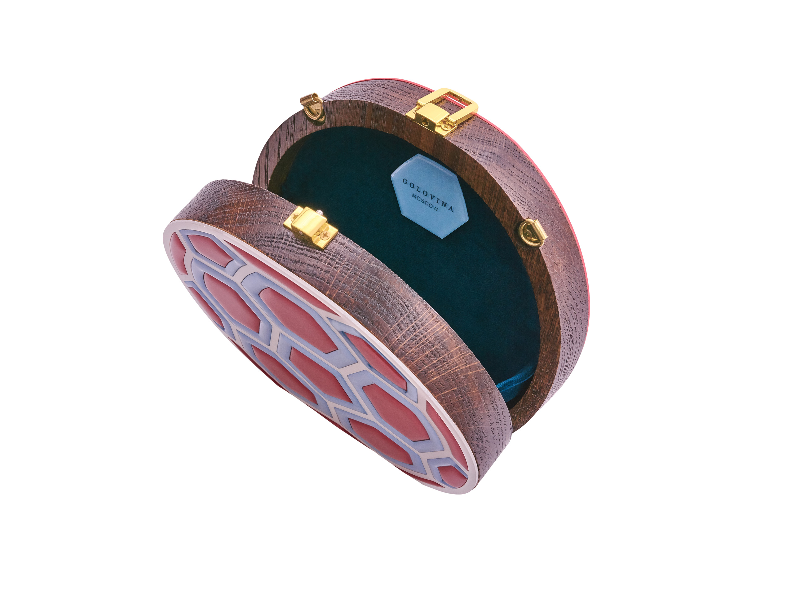 Golovina match ball clutch bag red and blue