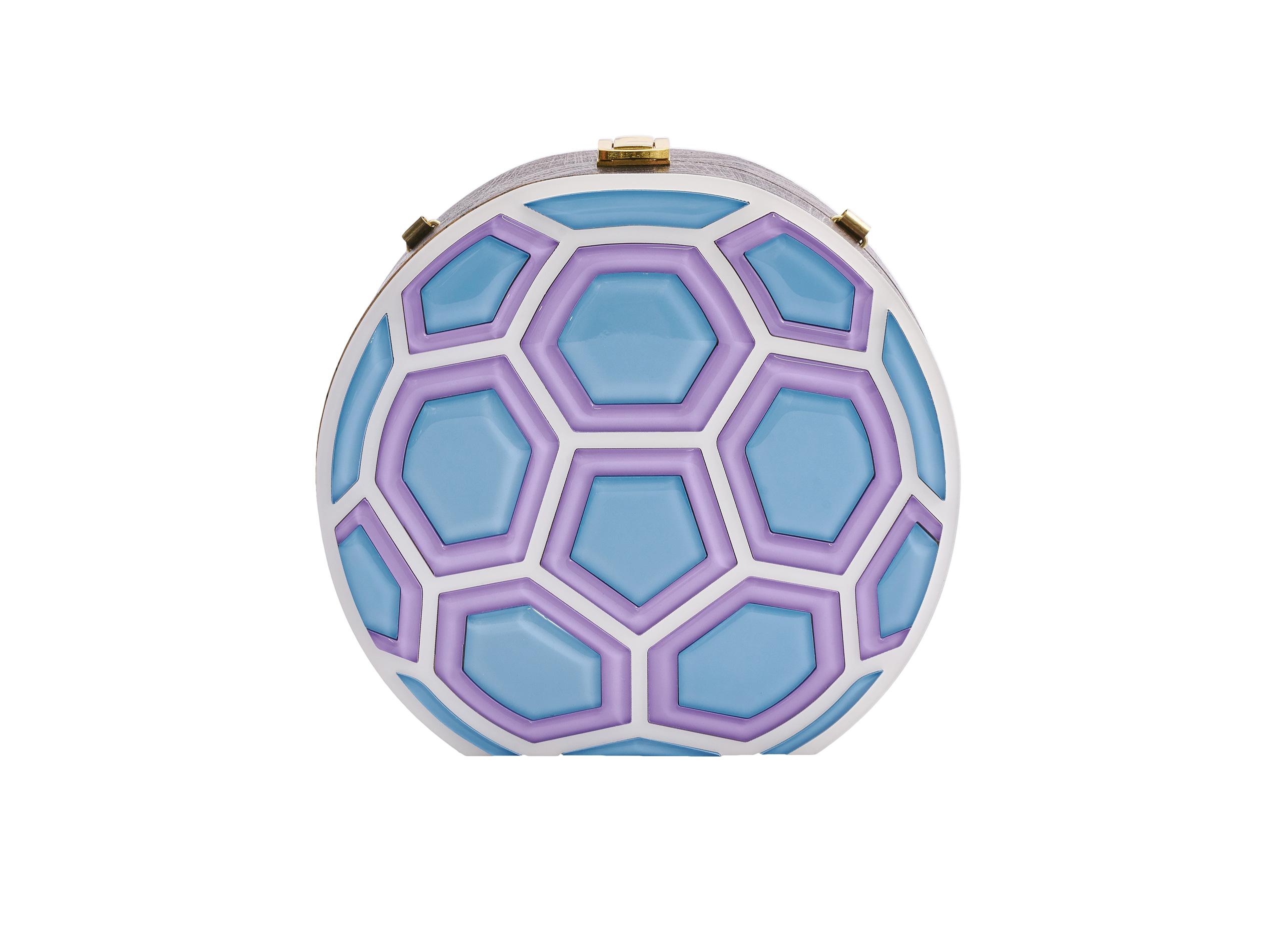 Match Ball Clutch Bag Violet & Blue