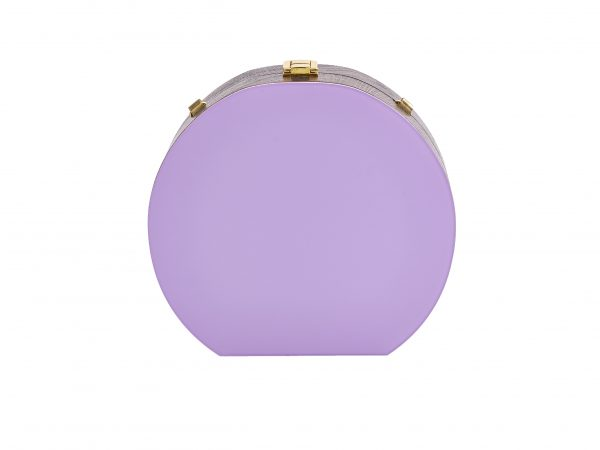 Golovina match ball clutch bag violet and blue