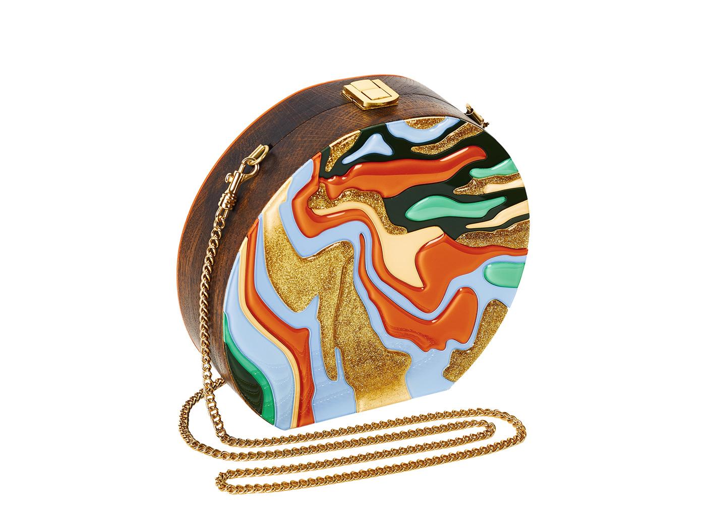 Golovina-marble-clutch-bag-orange-and-blue-3