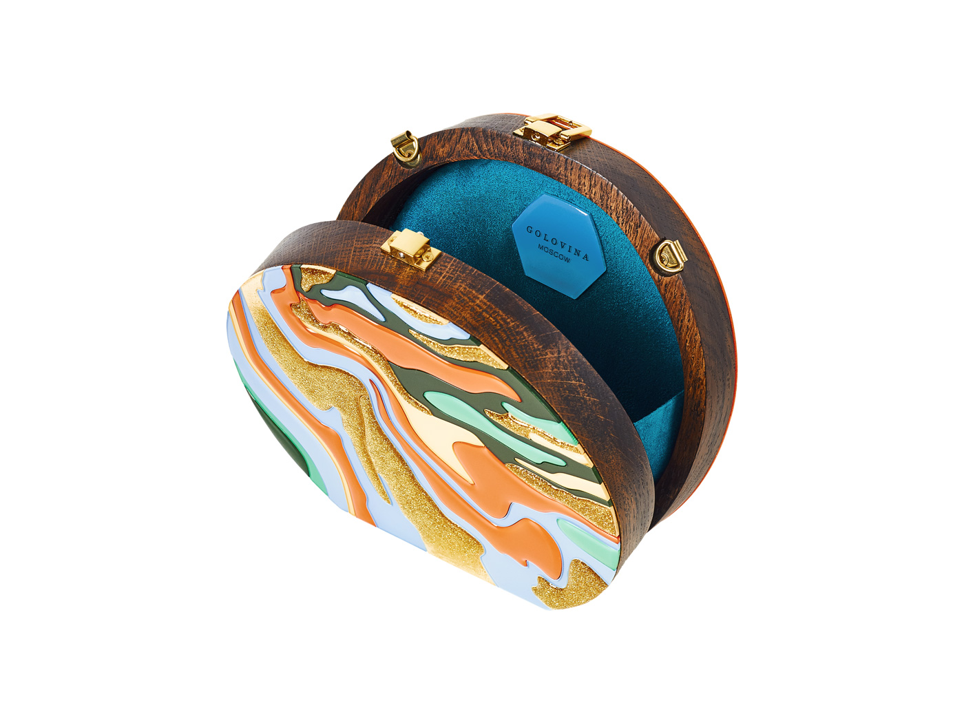Golovina-marble-clutch-bag-orange-and-blue-5